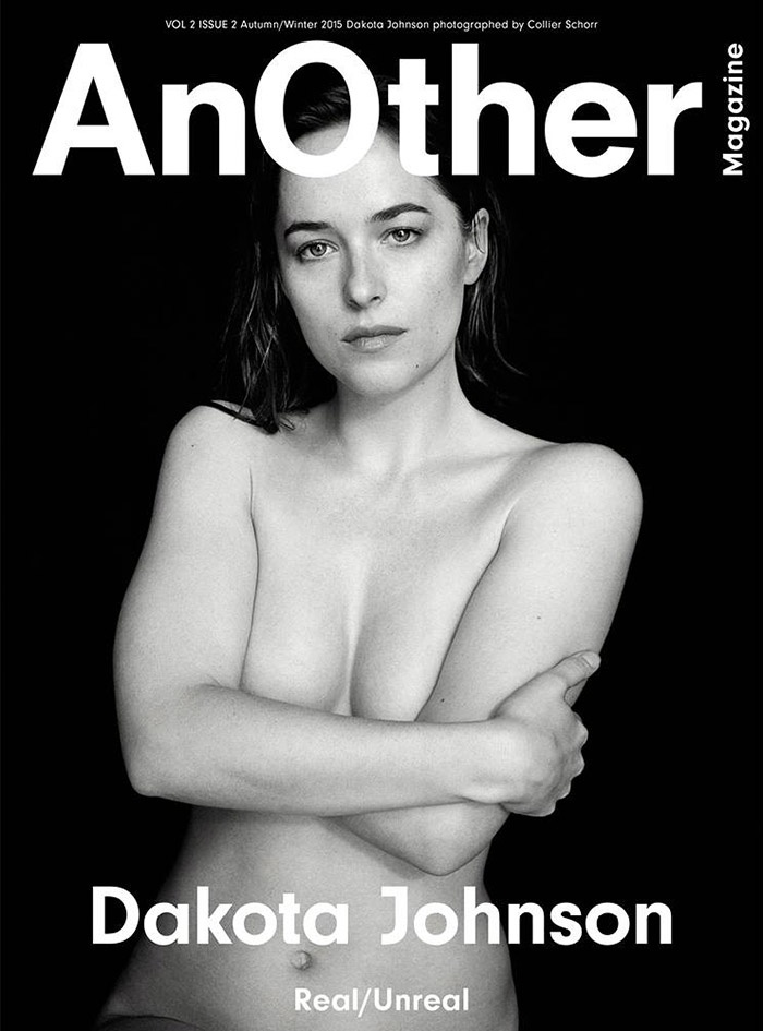 Dakota Johnson poses topless for AnOther Magazine Fall / Winter 2015 cover