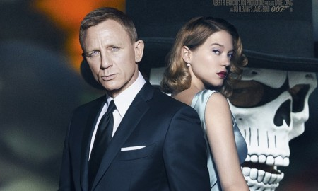 Daniel Craig and Lea Seydoux on Spectre movie poster
