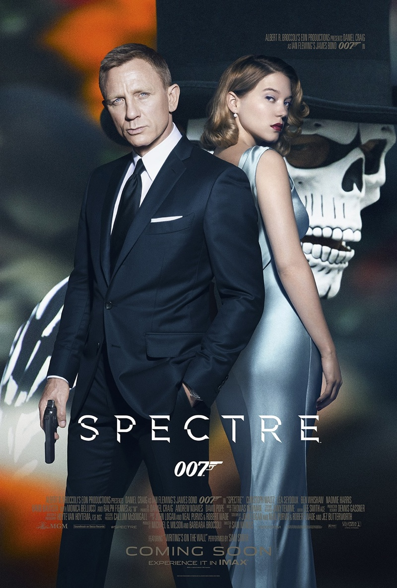 Lea Seydoux Gets Glam on 'Spectre' Poster with Daniel Craig