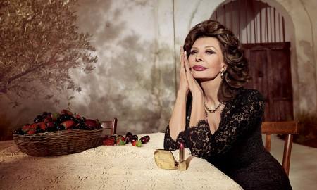 Sophia Loren for Dolce & Gabbana Lipstick campaign