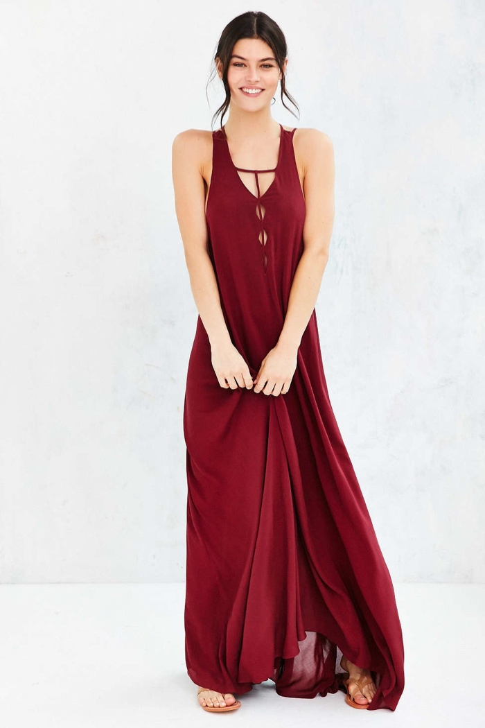 Ecote Lacey Cutout Maxi Dress available for $119.00