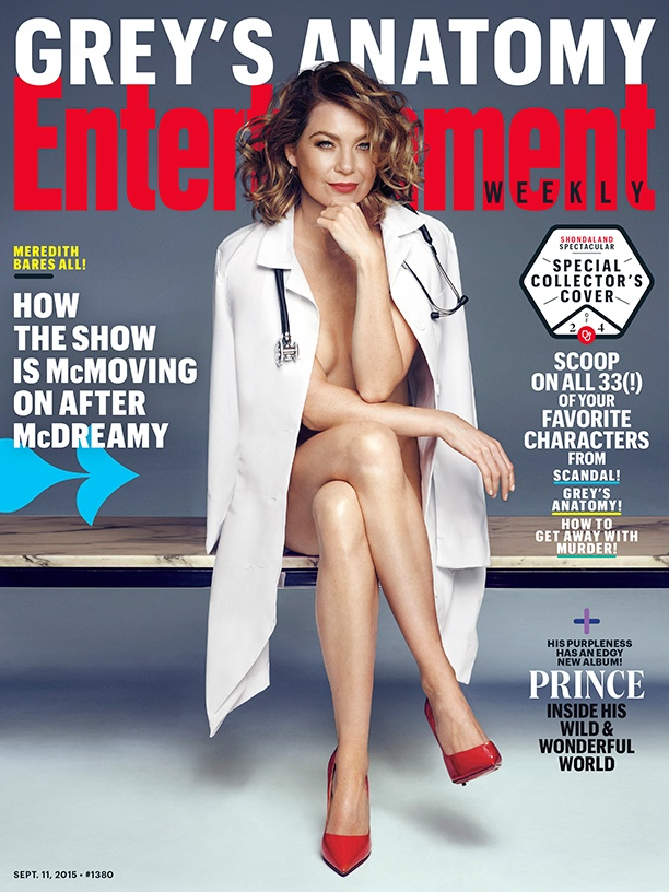 Ellen Pompeo on Entertainment Weekly September 11, 2015 cover