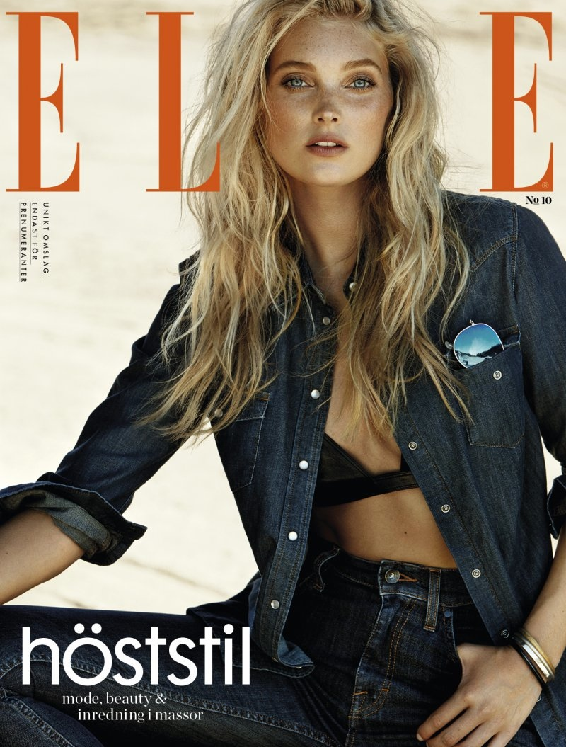 Elsa Hosk on ELLE Sweden October 2015 cover
