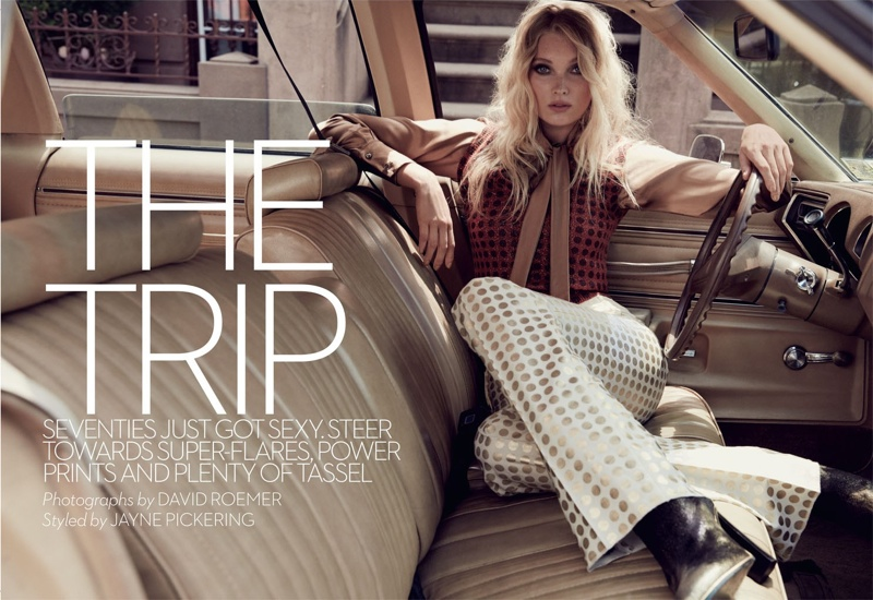 Elsa Hosk stars in Marie Claire UK's October issue