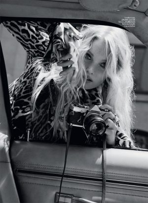 Elsa Hosk is a Foxy Lady in Marie Claire UK