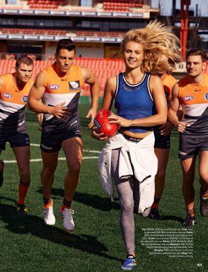 Elyse Knowles Gets Sporty for Cosmopolitan Australia