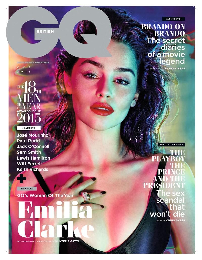 Emilia Clarke on GQ UK October 2015 cover