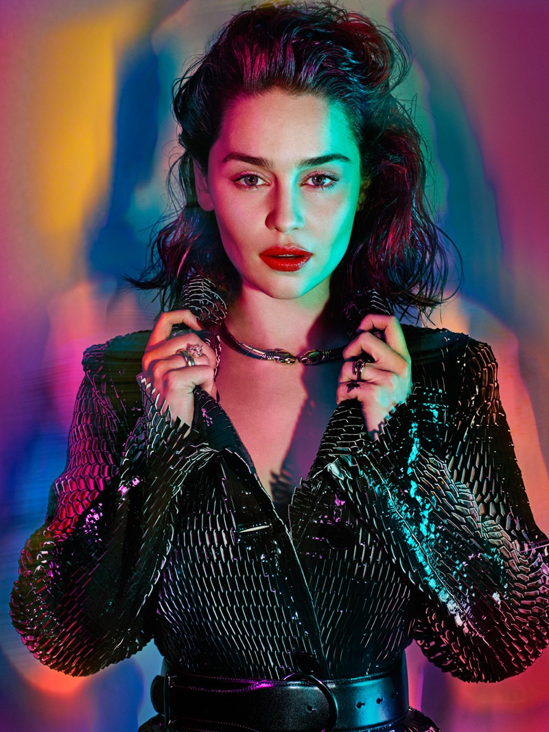 Emilia Clarke Goes Bombshell for GQ UK by Hunter & Gatti