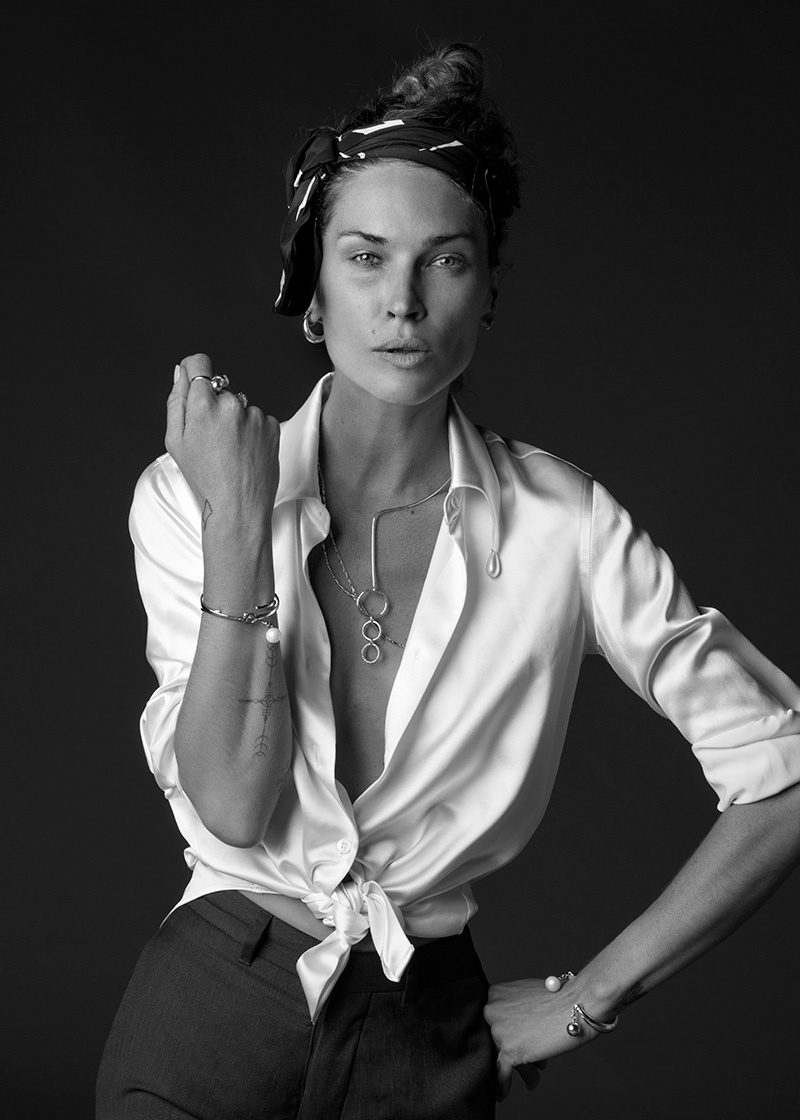Erin Wasson Poses in Her Own Jewelry Line