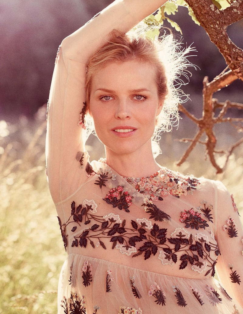 Eva Herzigova Wears End of Summer Looks in ELLE Italy Cover Story