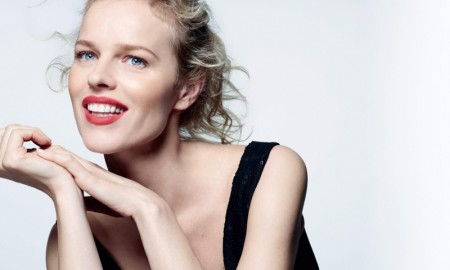 The Czech is all smiles for the beauty editorial