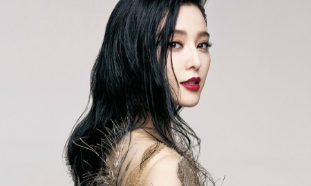 The Chinese actress wears luxe dresses for the photo shoot