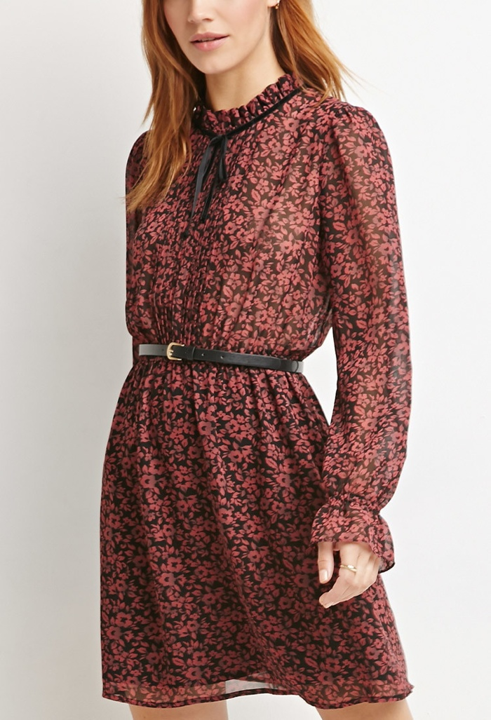 Forever 21 Floral Print High-Neck Dress available for $27.90
