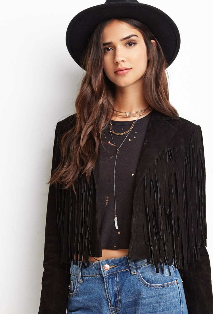 Forever 21 Genuine Suede Fringe Jacket available for $59.90