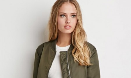 Forever 21 Longline Bomber Jacket available for $49.90