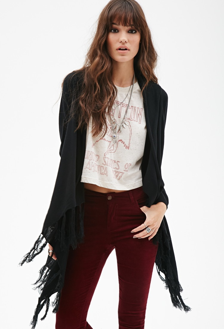 Forever 21 Open Front Fringe Cardigan available for $29.90