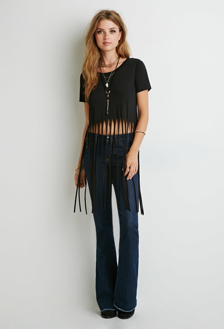 Forever 21 Raw Cut Fringe Tee available for $12.99