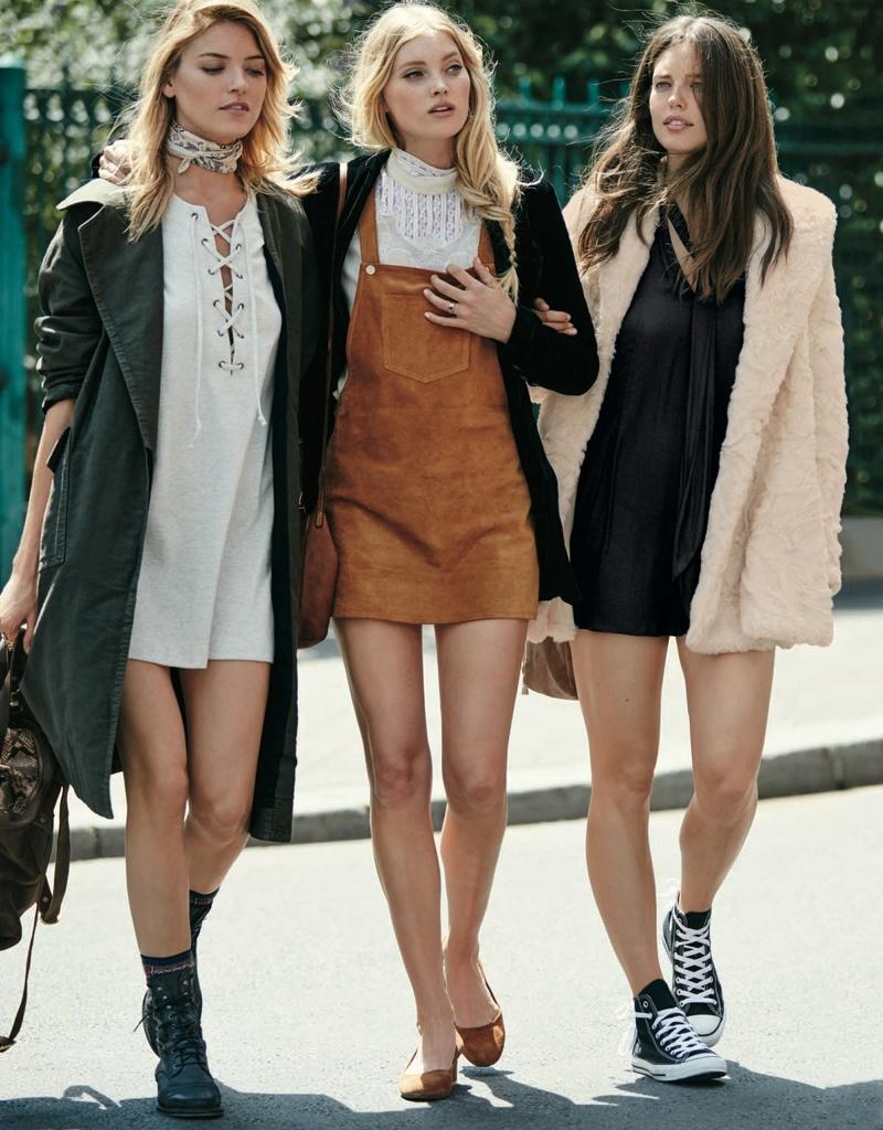 Elsa Hosk, Martha Hunt + Emily DiDonato Have A Parisian Holiday September 2015