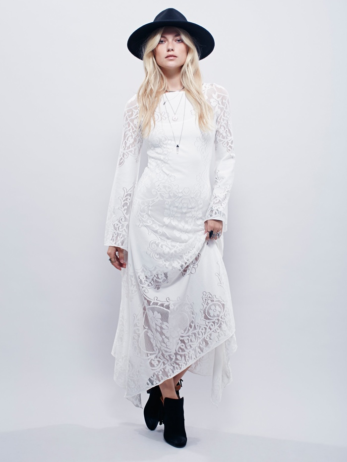 FP x Stop the Clock Maxi Crochet Dress available for $198.00