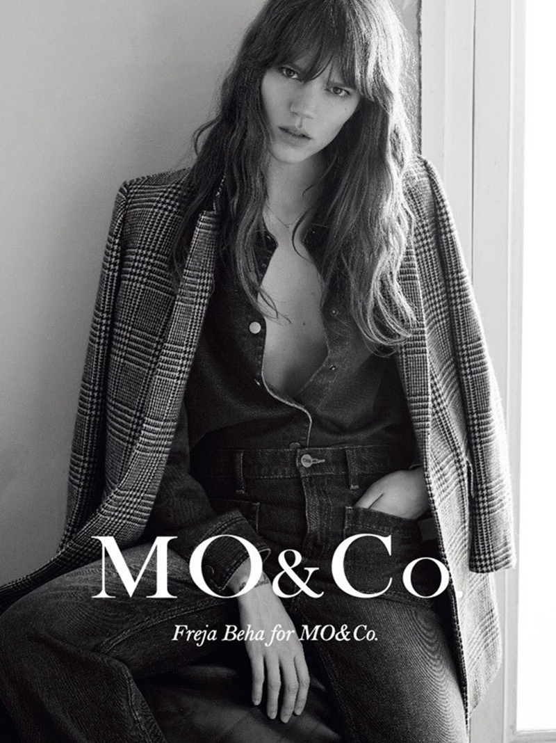 Freja Beha Erichsen Models Cool Girl Staples in MO&Co. Fall 2015 Ads