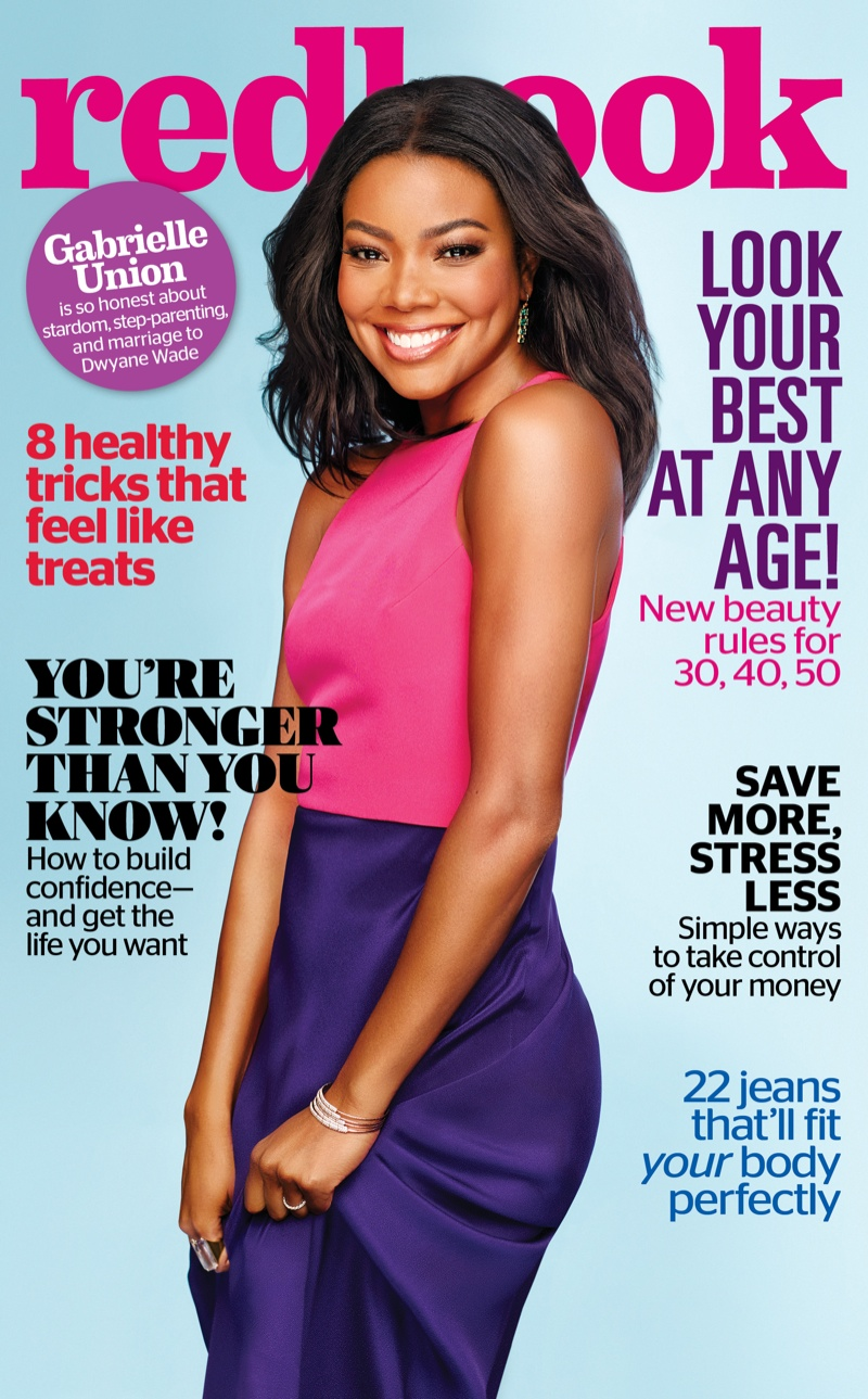 Gabrielle Union on Redbook Magazine October 2015 cover
