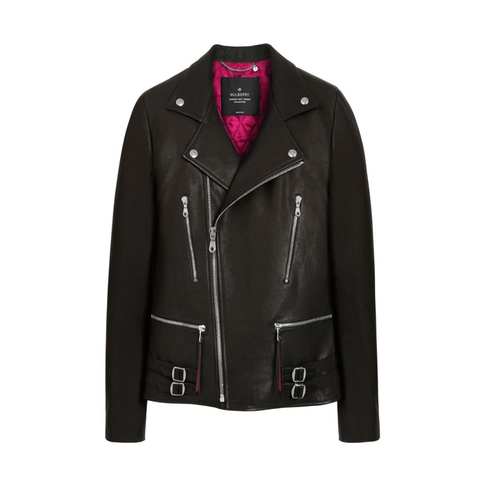 Georgia May Jagger x Mulberry Biker Leather Jacket available for $1,590.00
