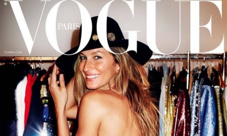 Gisele Bundchen on Vogue Paris October 2015 cover by Mario Testino