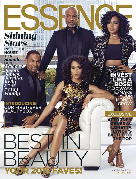 Cast of Grey's Anatomy on Essence October 2015 cover