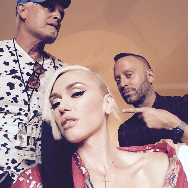 Gwen Stefani shows off new dip-dyed hairstyle
