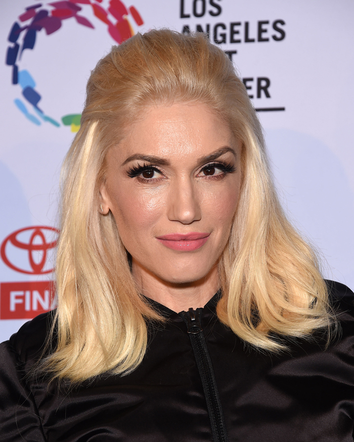 Gwen Stefani Has a New Rocker Chic, Dip Dyed Hairstyle