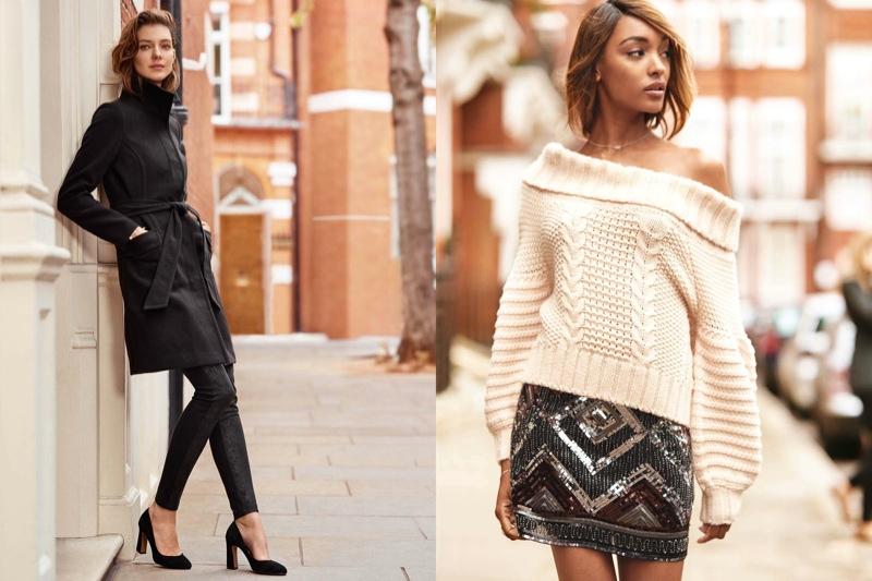 Kati Nescher and Jourdan Dunn star in H&M's fall lookbook