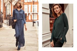 Jourdan Dunn + Kati Nescher Model H&M's Soft Layering