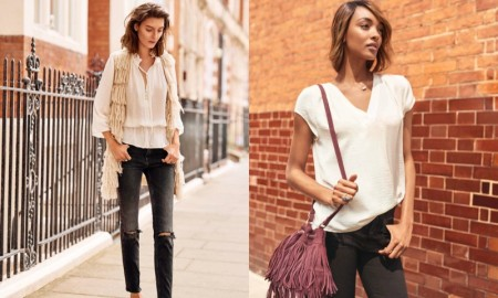 The girls were casual cool looks perfect for street style snaps