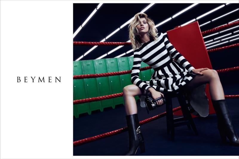 Hana models bold stripes from Valentino