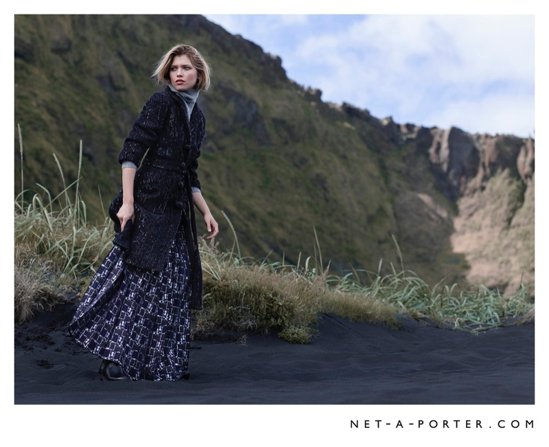 Hana Jircikova Dresses for Fall Weather in New Net-a-Porter Images