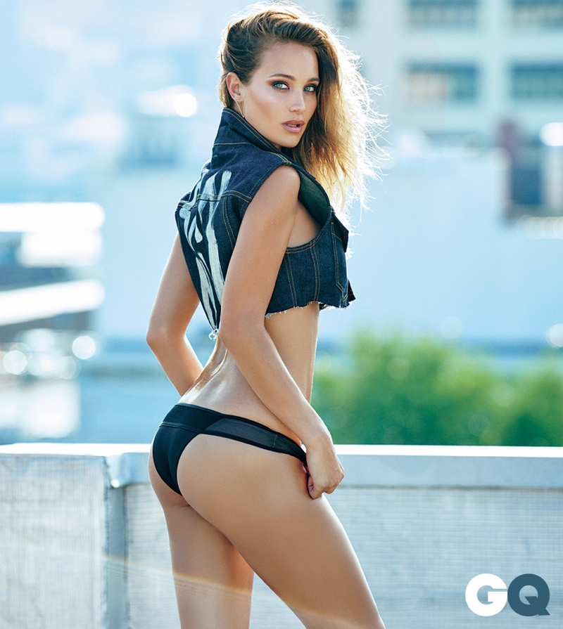 Hannah Davis poses in the September issue of GQ Mexico