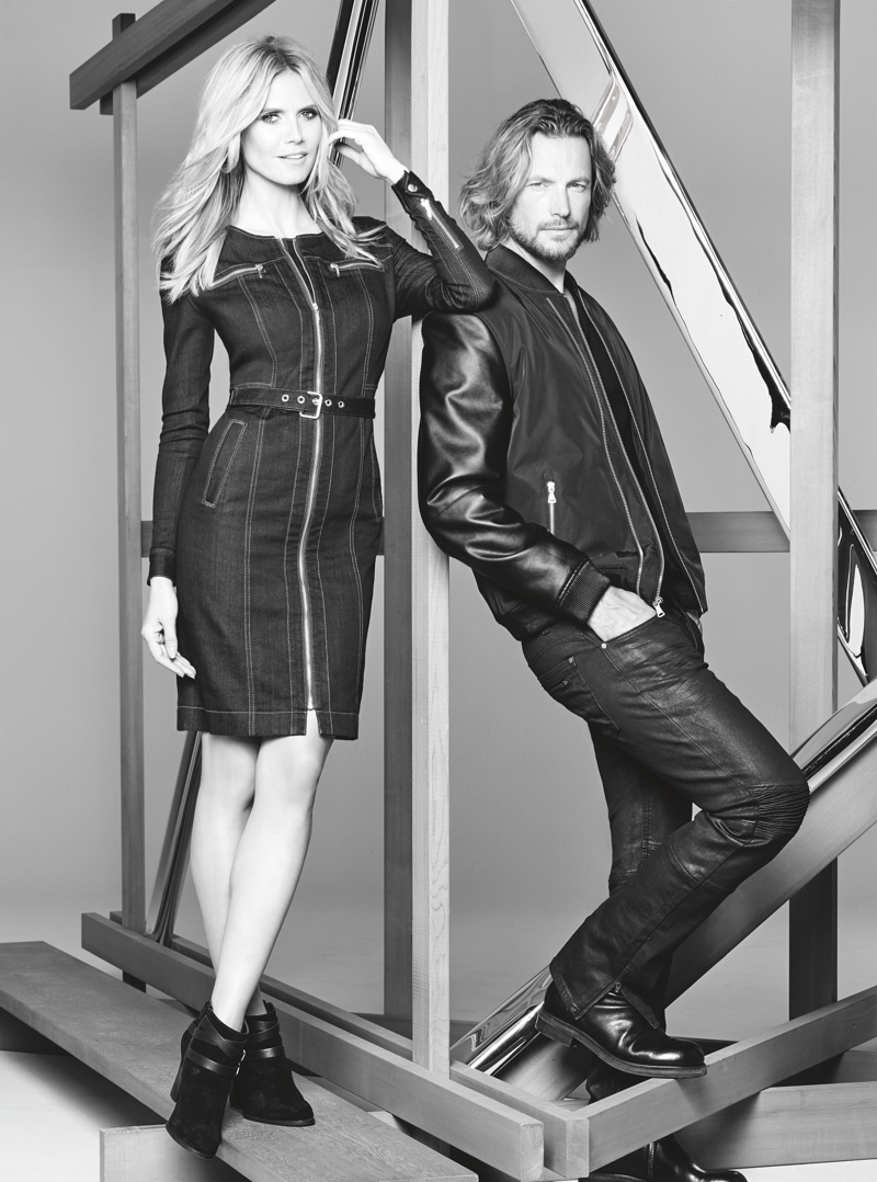 Heidi Klum and Gabriel Aubrey star in Macy's INC. fall 2015 campaign
