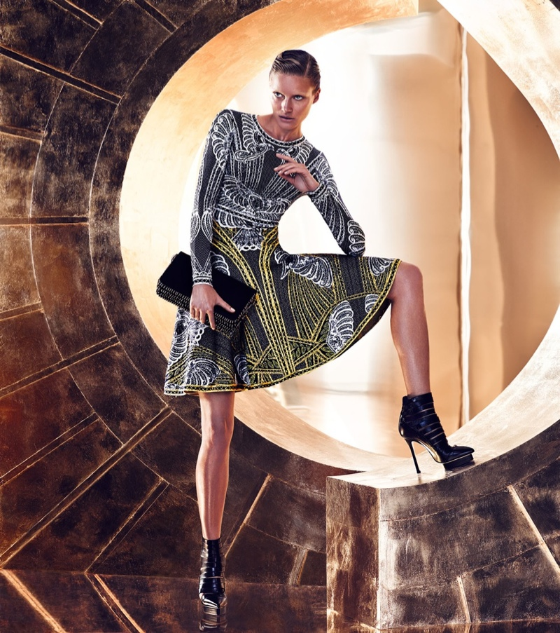 An image from Herve Leger's fall 2015 campaign photographed by Hunter & Gatti