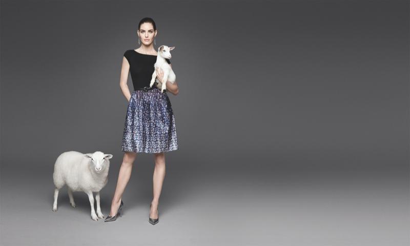 Hilary Rhoda Gets Animal Co-Stars in Dressbarn Campaign