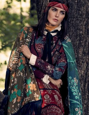 Hilary Rhoda Goes into the Woods for ELLE Italia