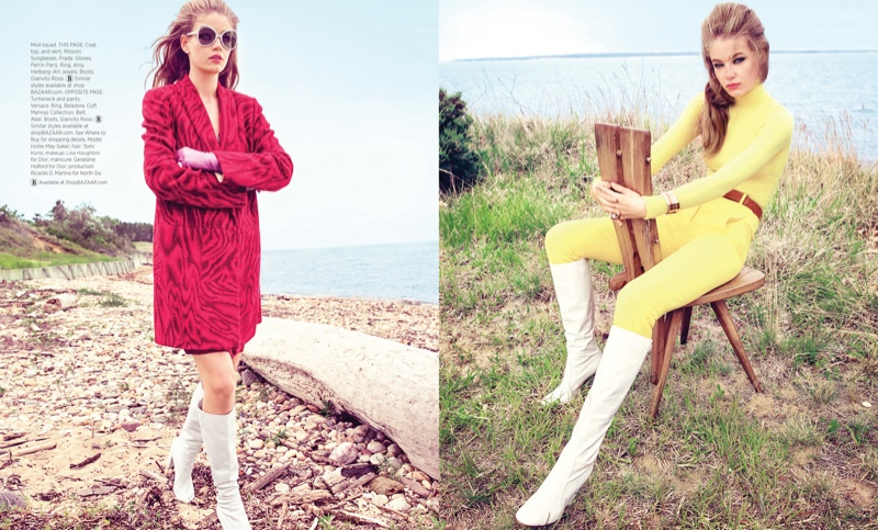 Hollie-May looks mod chic in the editorial