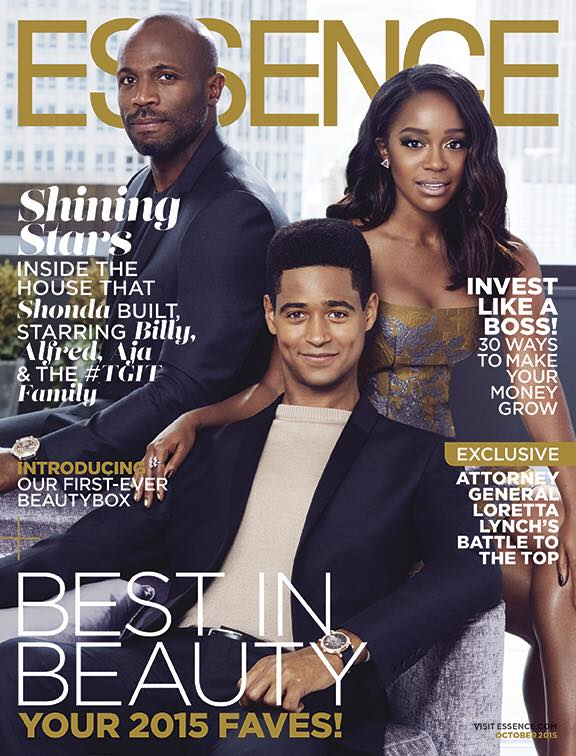 Cast of How to Get Away with Murder on Essence October 2015 cover