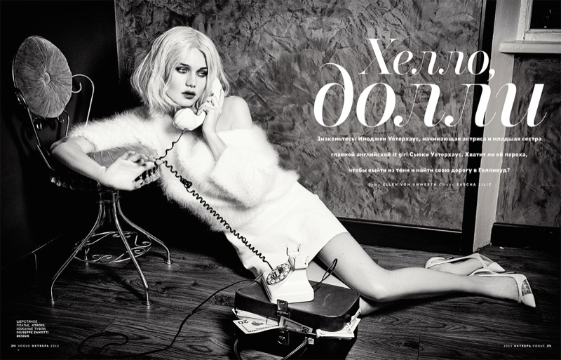 Immy Waterhouse Has Blonde Ambition in Vogue Russia Editorial