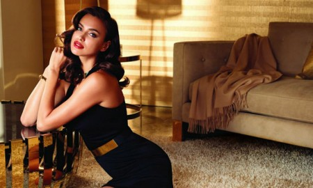 Irina Shayk for Avon Rare Gold fragrance campaign