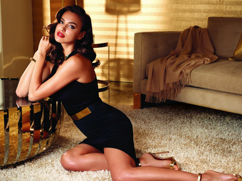 Irina Shayk Channels Retro Glamour for Avon