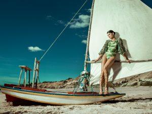 Isabeli Fontana Soaks Up the Sun for Agua de Coco