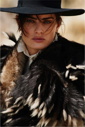 Isabeli Fontana Takes On Western Style for ELLE France Editorial