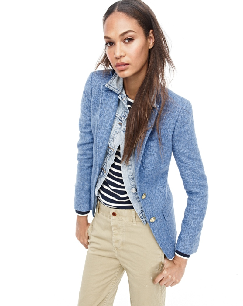 Joan Smalls for J. Crew fall 2015 style guide
