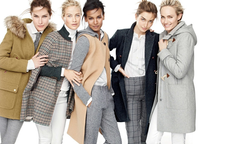 J. Crew Taps Top Models for its Fall Style Guide