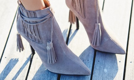 Jeffrey Campbell + Free People Suede Ankle Boot with Fringe available for $218.00